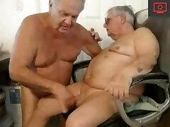 two grandpa fellate each other