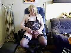 Ugly Slut CD make cum out