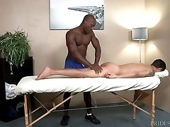 ExtraBigDicks Dangled Masseur gets in Customers Ass
