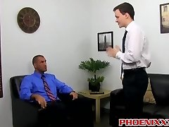 Damien and Parker have a warm anal break in the office
