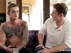 Tatted Hunk Eats Ass at Audition Call