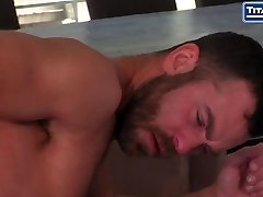 Scruffy Bearded Man Gives Hungry Oral