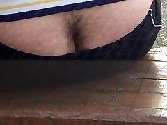 Str8 spy wooly bum on bench