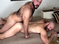 two bears fuck without a condom