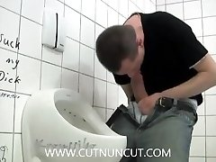Jerk Off and SelfSuck in Public Wc