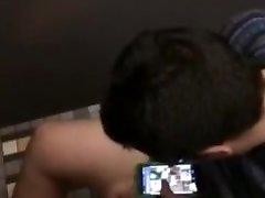 douche solo spy webcam - cute twink jerking on a toilet