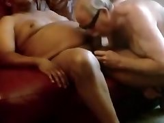 Old man Sucks Black Dick