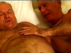 Sexy trio mature old studs
