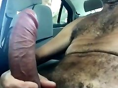 Fapping Off In The Van