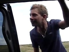 UK lads lure twink into their truck for gay joy