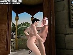 In the middle east a hot arabian guy is getting torn up in 3D