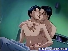Anime gay hot penetrated fun in bed