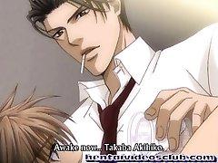 Adorable anime gay super-fucking-hot bareback slammed