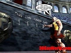 Gay Olympic Games Funny 3DGay Toon Anime 3 DIMENSIONAL Comics Joke