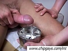Mischievous therapist plays with cock