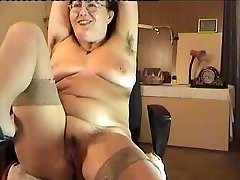 hairy mature lady show on web cam