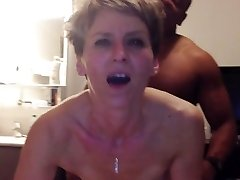 Cougar has anal orgasm from young ebony cock