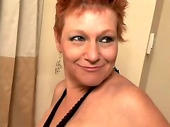 Thick Cut Red-haired Grandmother Pounded