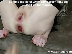 Dirtygardengirl hard anal fisting & punching med Alex Torn