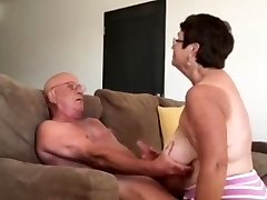 Wifey giving husband a blow arm job