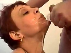 Mature Christine gets a real filthy mouthfuck