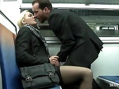 Alicia analfucked in the subway by William