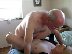 Elder couple create their first romp tape.