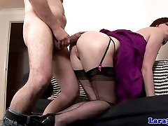 Euro glamour mature doggy style humped