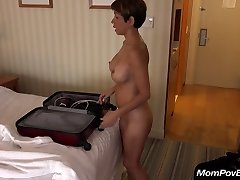 Huge-titted chinese MILF behind the scenes