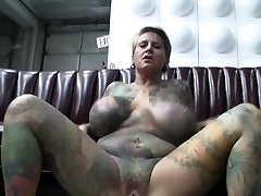 Crazy pornstar Black Widow in horny piercing, tats sex sequence