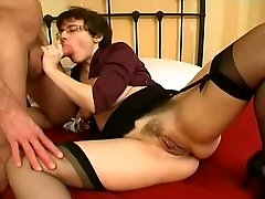 Pierced Milf in Stocking Gaping Anal Nail and Facial
