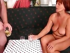 Piss-and-Cum-Gulping-Italian-Granny