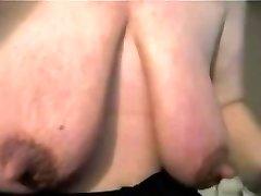 परिपक्व के साथ, बड़े और बड़े saggy स्तन - negrofloripa