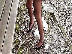 Hot amateur wife brutally fist boned over a park bench