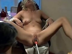 Slammed Objects in pussy for mature by hubby