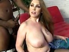 Mom with Big Orbs gets Romped by Black Cock 8