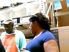 Giant Ass Gilf Needs Some Cock at Home Depot!