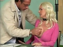 Busty German Mature Screwing in Office