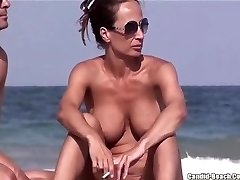 Bare Beach MILFs Labia FROM SEXDATEMILF.COM Close Ups Spycam Voyeur
