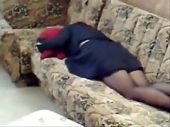 milf home alone jacking in living room. Covert cam