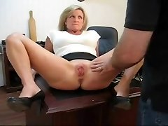 Caught playing with her pussy penalty for his secretary