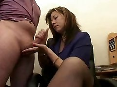 Hot Mature Secretary Jerks The Jizz From Bosses Dinky !
