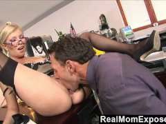RealMomExposed - Caught with finger in cunny she gets screwed by the boss