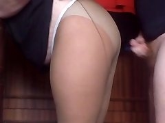 jism on pantyhose my mom