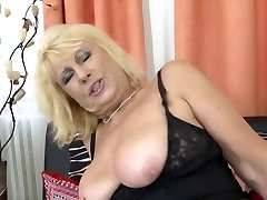 Gorgeous senior mom seduce young horny son-in-law