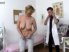 Naughty mother fucking and throating young doctor