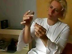 Blond Old Nurse