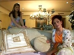 Fabulous mom has fun with young blonde stunner