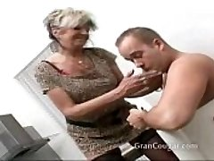 Sumptuous senior granny wants him now and wont stop til she gets it