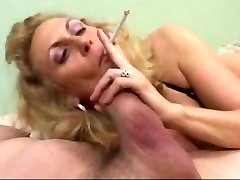 Steamy Mature Blonde Smoking Fellatio (short clip)